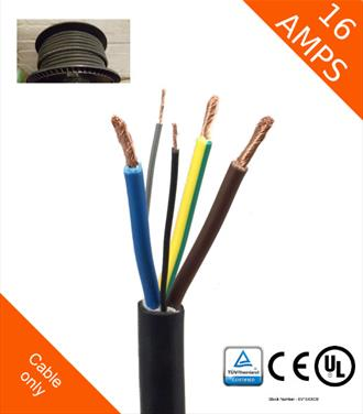 Type 2 16Amp (Male) Plug for EV charging lead - Powerpac on 30 amp plug, 40 amp plug, 60 amp plug, 15 amp plug, 100 amp plug,